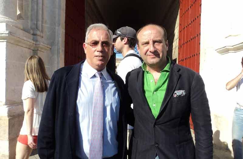Manuel Blanco, director de Mercasevilla, y el abogado Joaquín Moeckel.