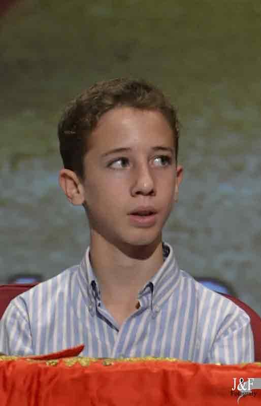 El joven Calerito, de tan sólo 14 años.