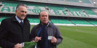 Curro Romero, junto a Rafael Gordillo en un acto de apoyo al Betis.