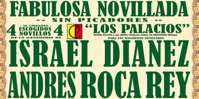 Cartel anunciador de la novillada del domingo en Marbella.
