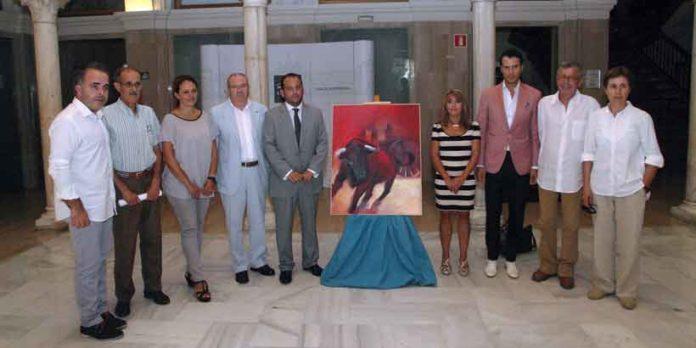 Acto de presentación hoy en Sevilla del cartel anunciador de los festejos taurinos de La Algaba 2013.
