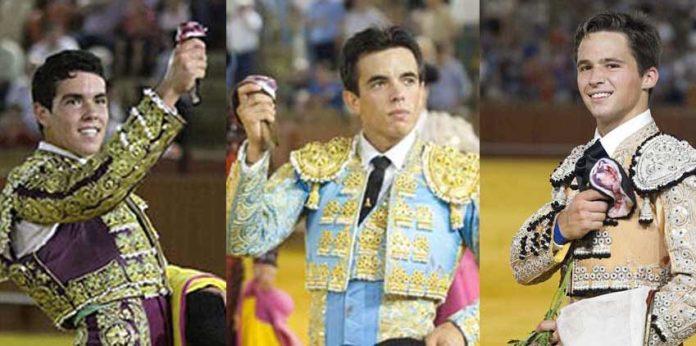 El Manriqueño, Amor Rodríguez y Juan Pablo Llaguno, finalistas para el próximo jueves en la Maestranza.