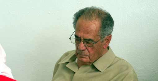 El taurino sevillano Manolo Márquez en el homenaje que recibió en octubre de 2011. (FOTO: Paco Díaz)