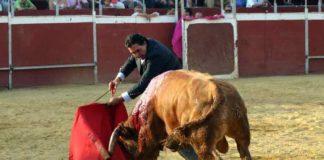 Tomás Campuzano pasea las dos orejas y el rabo el pasado sábado en Aznalcóllar, el que será finalmente su último astado lidiado en una plaza de toros. (FOTO: Javier Martínez)
