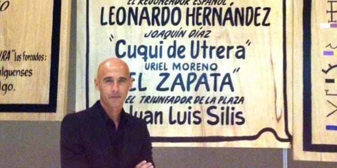 Joaquín Díaz 'Cuqui de Utrera', en Pachuca durante la presentación de su corrida.