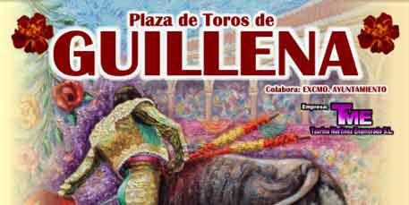 Cabecera del cartel anunciador en Guillena.