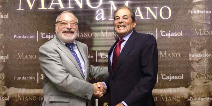 El filósofo Fernando Savater y el ganadero sevillano Antonio Miura.