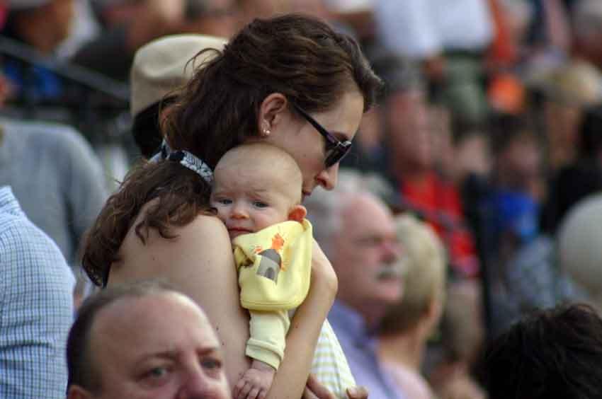 Un bebé aficionado.