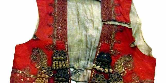 Chaleco que vestía Joselito el día de su cornada mortal.