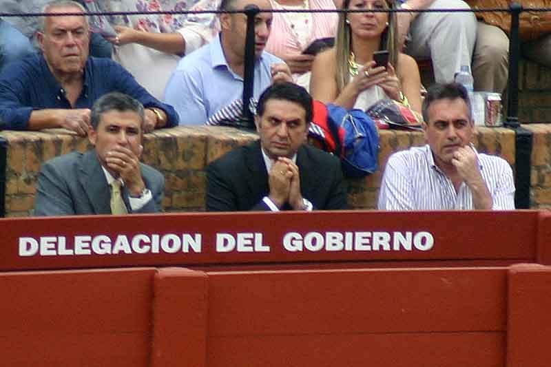 El delegado de la Junta de Andalucía, Javier Fernández, en el callejón.