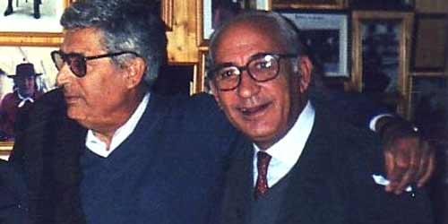 Curro Puya junto a José Manuel López, autor del artículo.