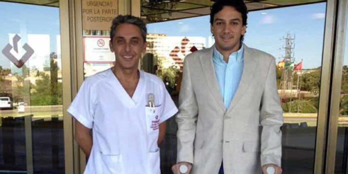 Oliva Soto, al salir del hospital.