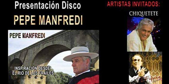 Cartel de presentacióin del disco de Pepe Manfredi.