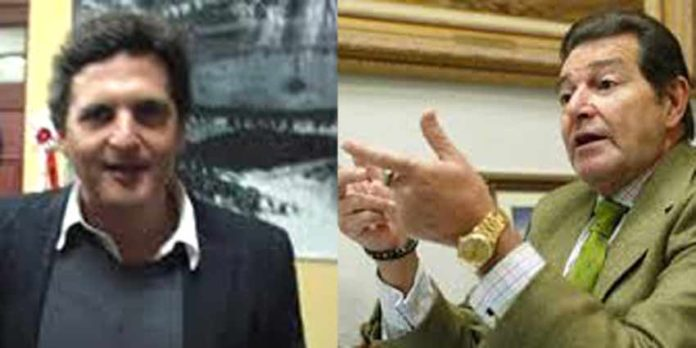 Los apoderados sevillanos Marcos Sánchez Mejías y Pepe Luis Segura.