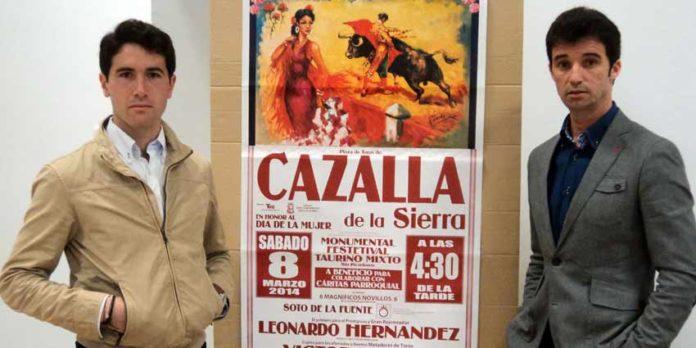 Los utreranos Daniel Araujo y Luis Vilches torean esta tarde en el festival de Cazalla de la Sierra. (FOTO: Javier Martínez)