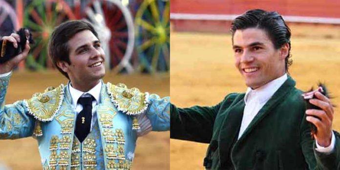 Los novilleros sevillanos Álvarez Escobedo y Pablo Aguado.