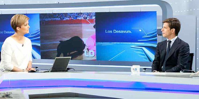El JUli, en el estudio de los informativos de TVE esta mañana.