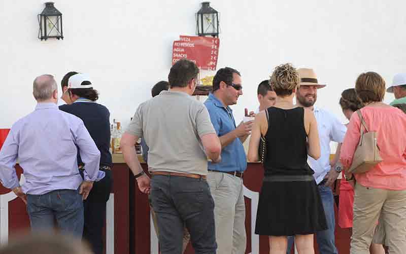 Visita al bar de la zona exterior para combatir el calor.