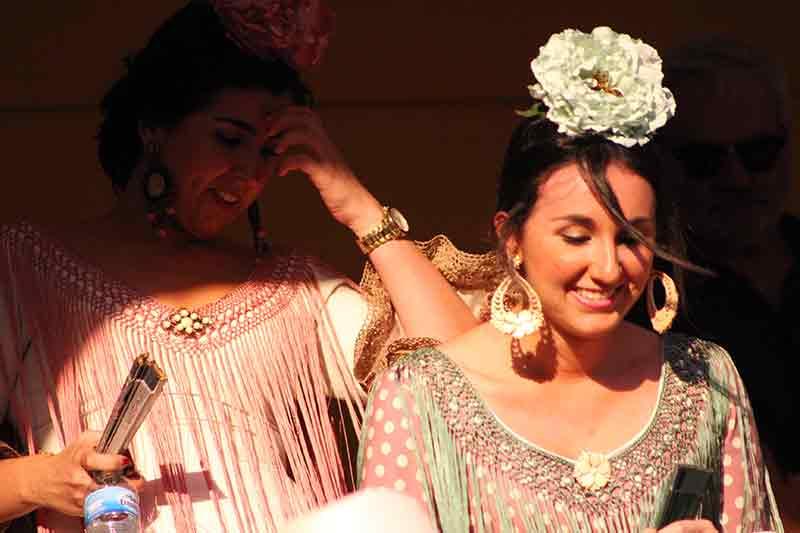 Flamencas en la Maestranza.