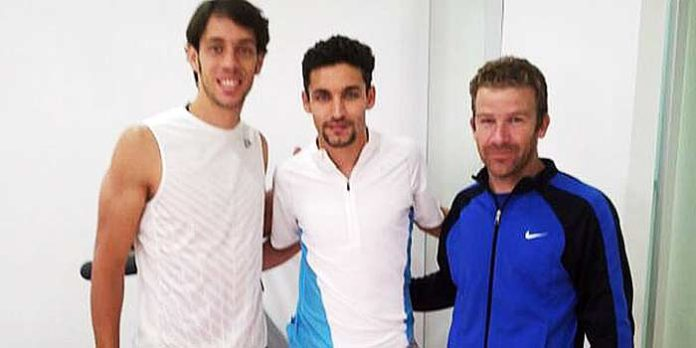 Antonio Nazaré ha coincidido en la rehabilitación con el jugador de fútbol Jesús Navas.