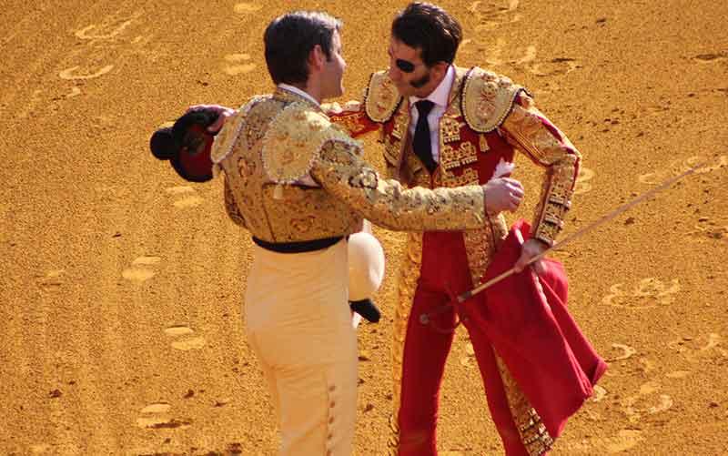 Brindis de Padilla a uno de sus picadores.