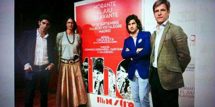Presentación del cartel 'The maestros' con Talavante, Morante y El Juli.