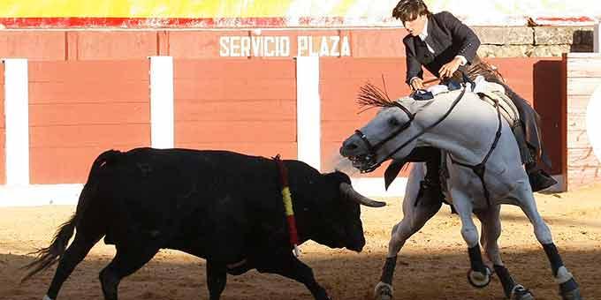 Diego Ventura, en su actuación hoy en Plasencia (FOTO: González Arjona/Toromedia)