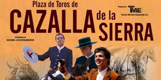 Cartel de rejones para Cazalla de la Sierra el próximo 16 de agosto.