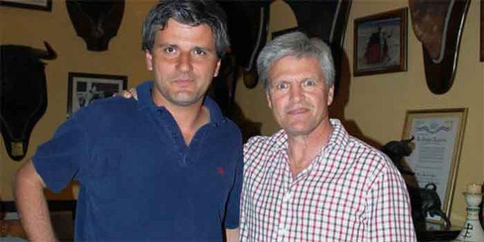 El empresario onubense Jorge Buendía y el torero sevillano Espartaco.