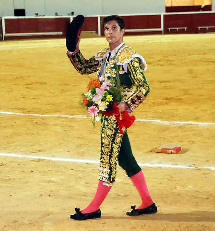 El novillero Curro Durán, hoy en Utrera. (FOTO: Brazo Mena)