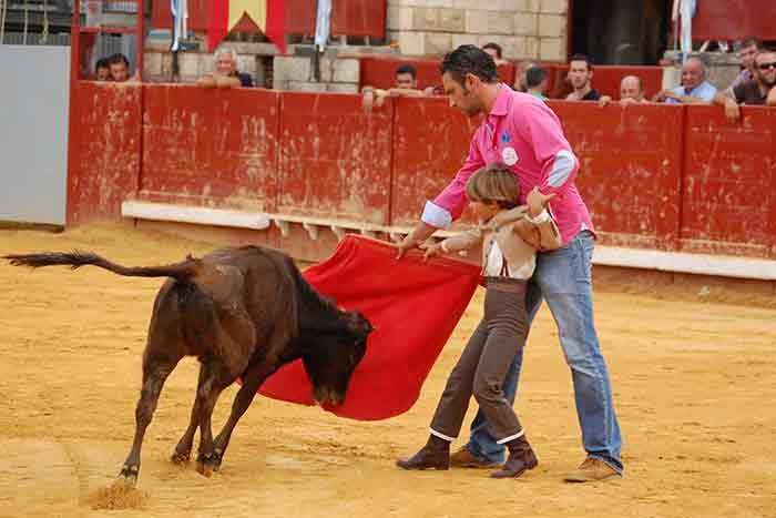 Clase práctica previa con alumnos de la Escuela de La Algaba.