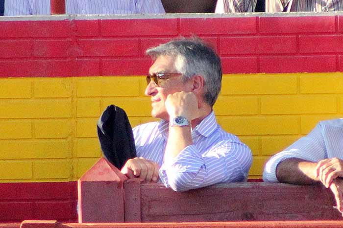 Pepe Cutiño no quiso perderse la vuelta de Espartaco.