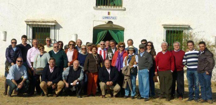 La Unión de Abonados de Sevilla, en otra de las visitas ganaderas realizadas.