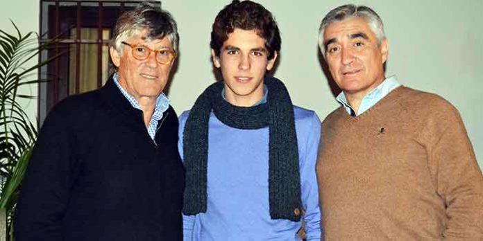Simón Casas, el novillero Ginés Marín y el empresario sevillano Pepe Cutiño.