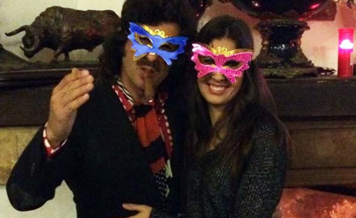 Morante y su mujer Elizabeth, en la pasada Nochevieja.