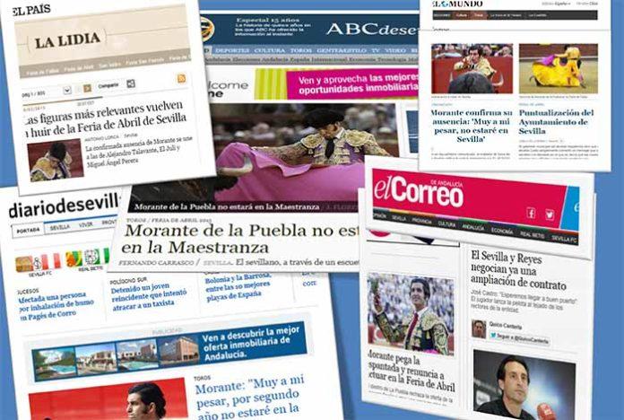 El nuevo escándalo de la Maestranza, en las portadas de los periódicos.