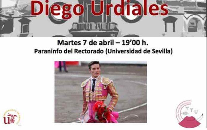 Cartel del acto de la Tertulia Taurina Universitaria de Sevilla.