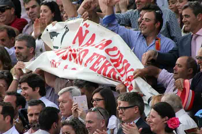 Seguidores extremeños de Antonio Ferrera.