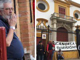 Eduardo Canorea se había convertido en un lastre para la Maestranza por los continuos conflictos generados en los últimos años. (FOTOS: Javier Martínez)