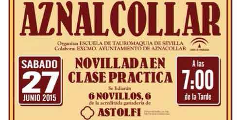 Cartel del festejo de la Feria de Aznalcóllar.