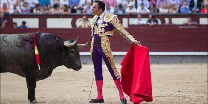 Desplante de El Cid ante un toro de Victorino Martín hoy en Madrid. (FOTO: las-ventas.com)