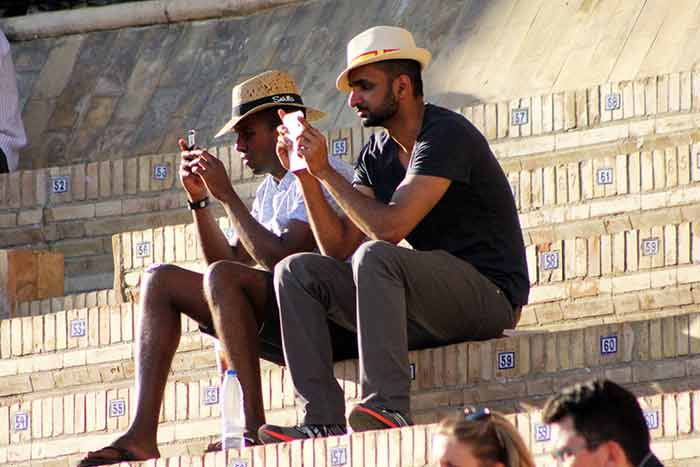 Muchos turistas; poca afición.