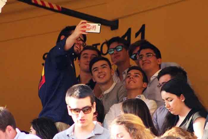 Un selfie taurino de recuerdo desde la Maestranza.