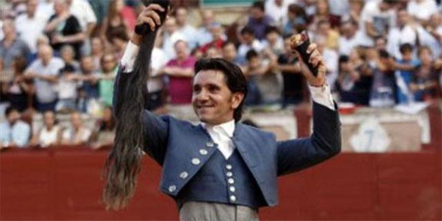 Diego Ventura, con el rabo cortado hoy en miércoles en Cuenca.
