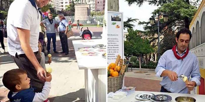 Presentación del helado con 'sabor' a Morante en la Feria de Logroño.