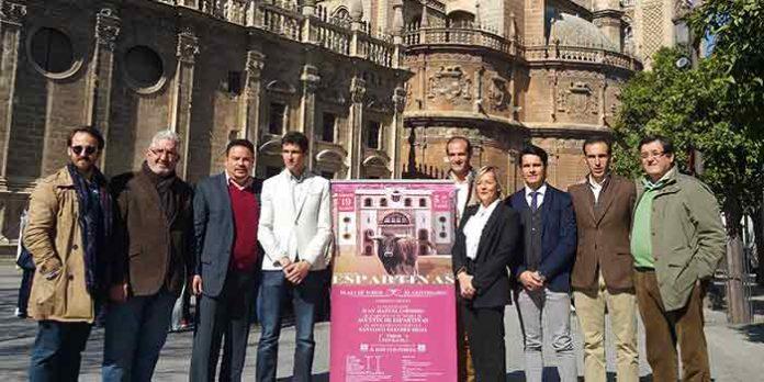 Presentación del cartel de Espartinas en la Diputación de Sevilla.