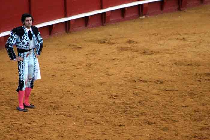 Morante observa al toro.