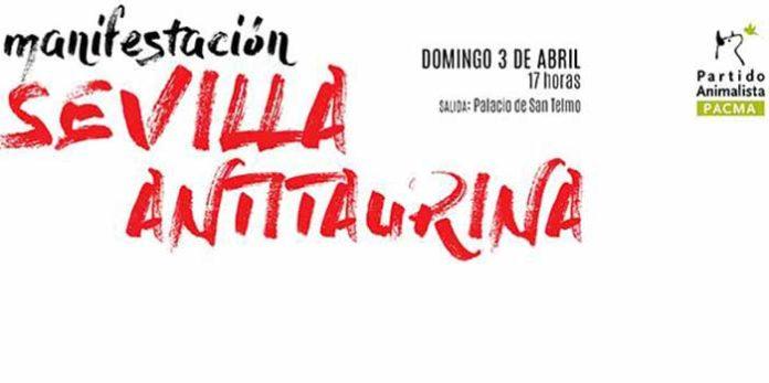 Cartel de la manifestación antitaurina del próximo domingo.