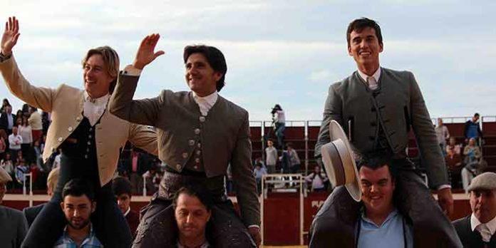 Rui Fernandes, Ventura y Manuel Moreno, a hombros hoy en Herrera.