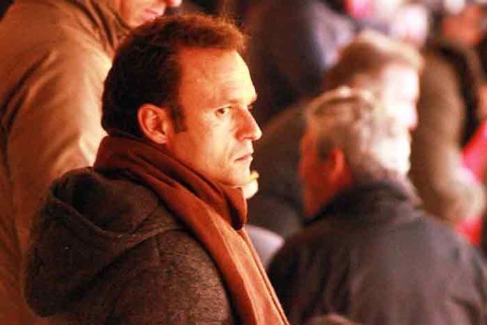 El extremeño Antonio Ferrera, en una grada.